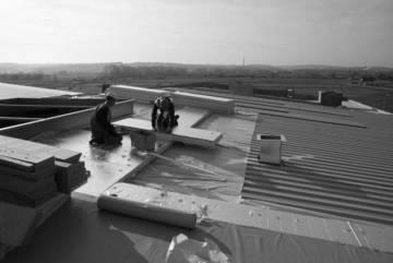Dach płaski ocieplony płytami termPIR AL